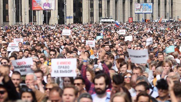 Manifestaciones en Moscú - Sputnik Mundo