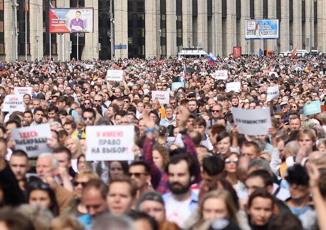 Manifestaciones en Moscú