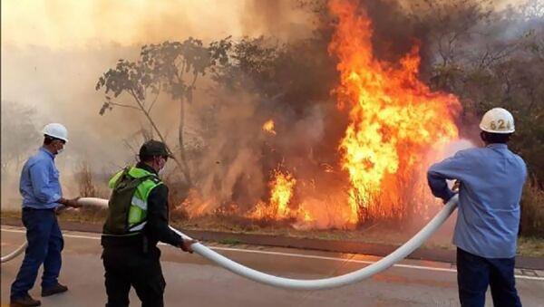 Incendios en el departamento de Santa Cruz, Bolvia - Sputnik Mundo