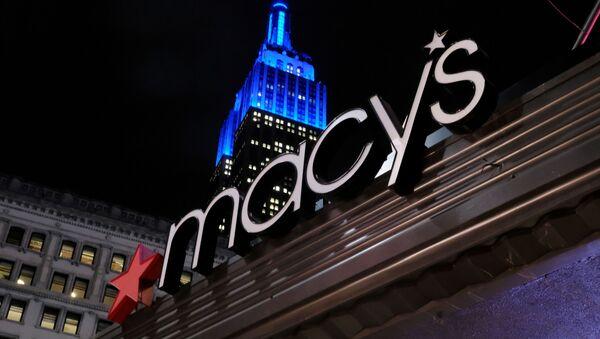 El logo de la tienda Macy's en Nueva York, EEUU - Sputnik Mundo