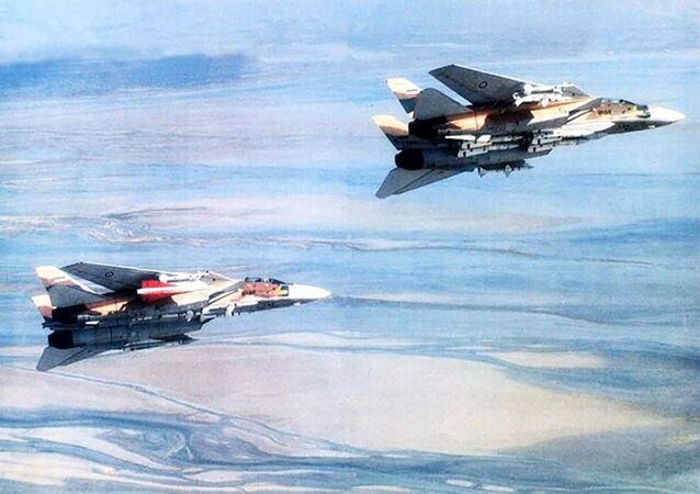 Cazas F-14 de la Fuerza Aérea de Irán armados con los misiles AIM-54 Phoenix