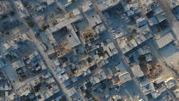 Ciudad de Jan Sheijun trás la retirada de los terroristas - Sputnik Mundo