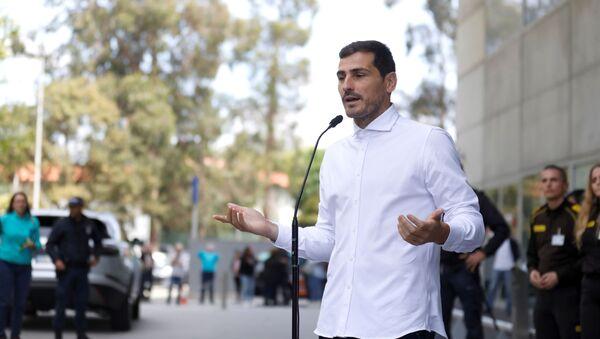 El guardameta español Iker Casillas - Sputnik Mundo