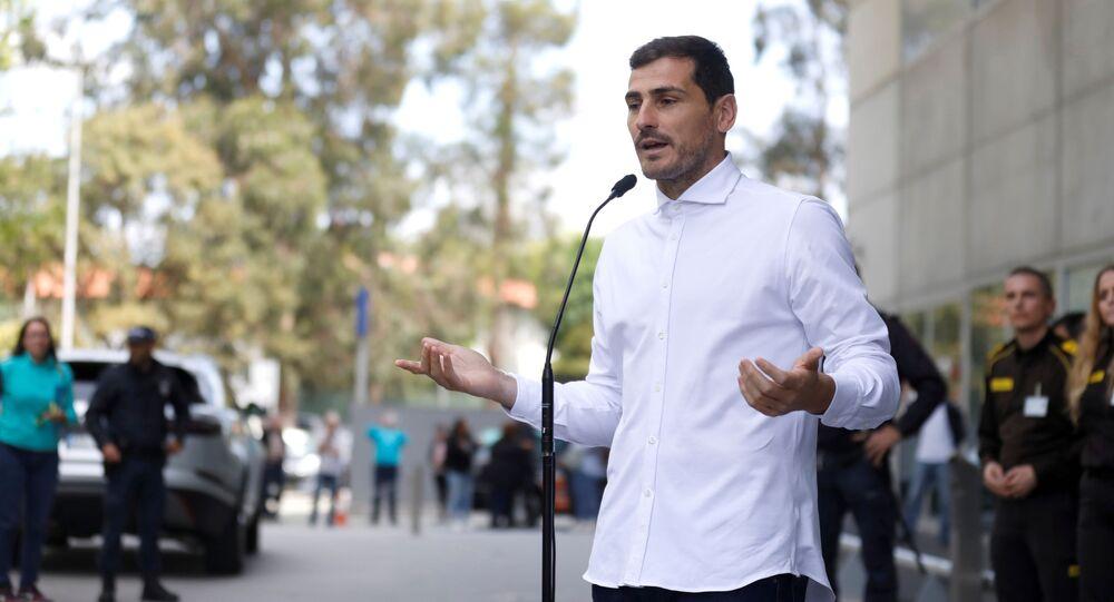 El guardameta español Iker Casillas