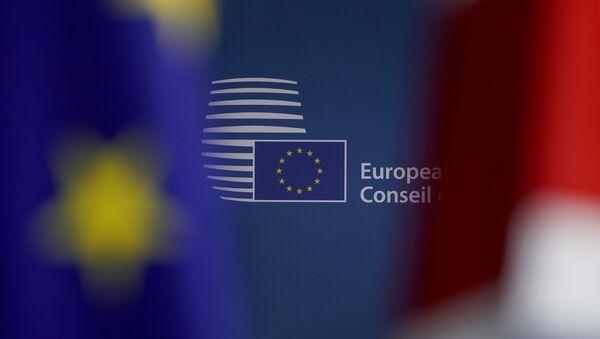 El logo de la Comisión Europea (CE) - Sputnik Mundo