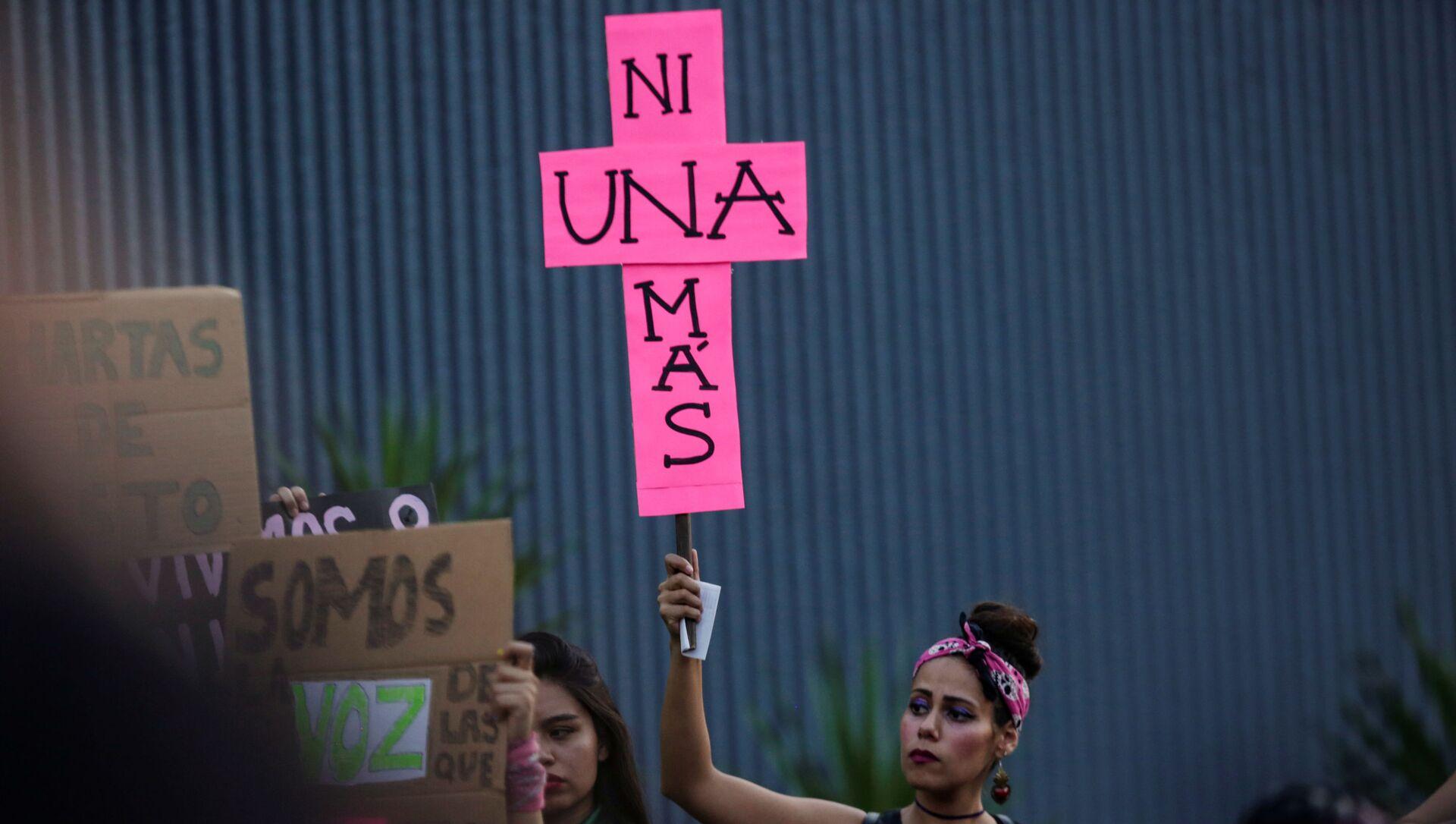 Manifestación en México contra la violencia hacia las mujeres - Sputnik Mundo, 1920, 21.08.2019