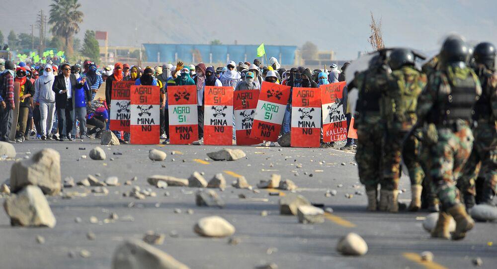 Protestas contra el proyecto Tía María