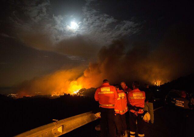 El incendio de Gran Canaria