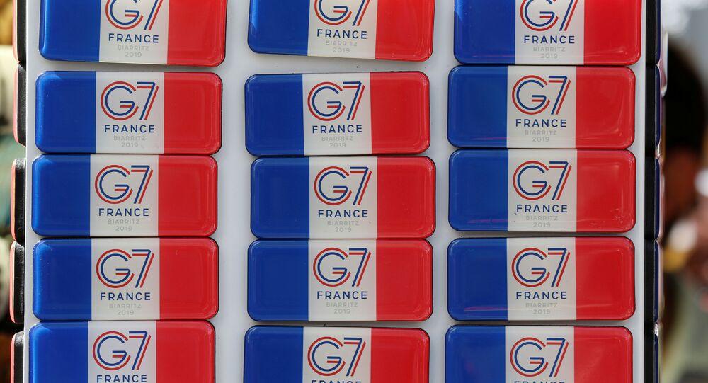 El logo de G7 en Francia