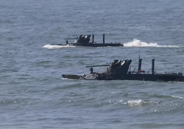 Más de 15 buques participan en un ejercicio militar cerca de Kaliningrado