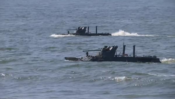 Más de 15 buques participan en un ejercicio militar cerca de Kaliningrado - Sputnik Mundo