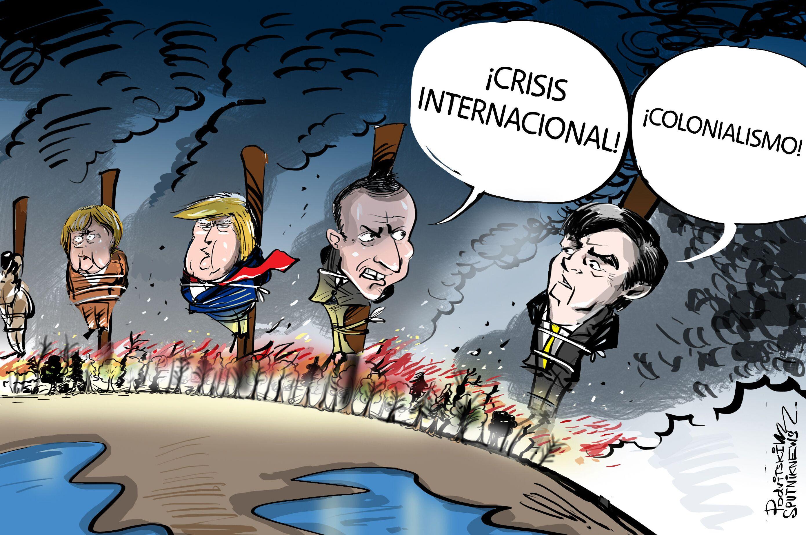 Mientras la Amazonía se quema, Bolsonaro se queja