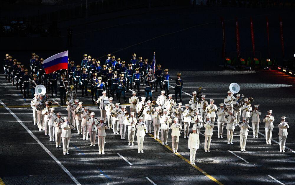 Festival de bandas militares Torre Spasskaya