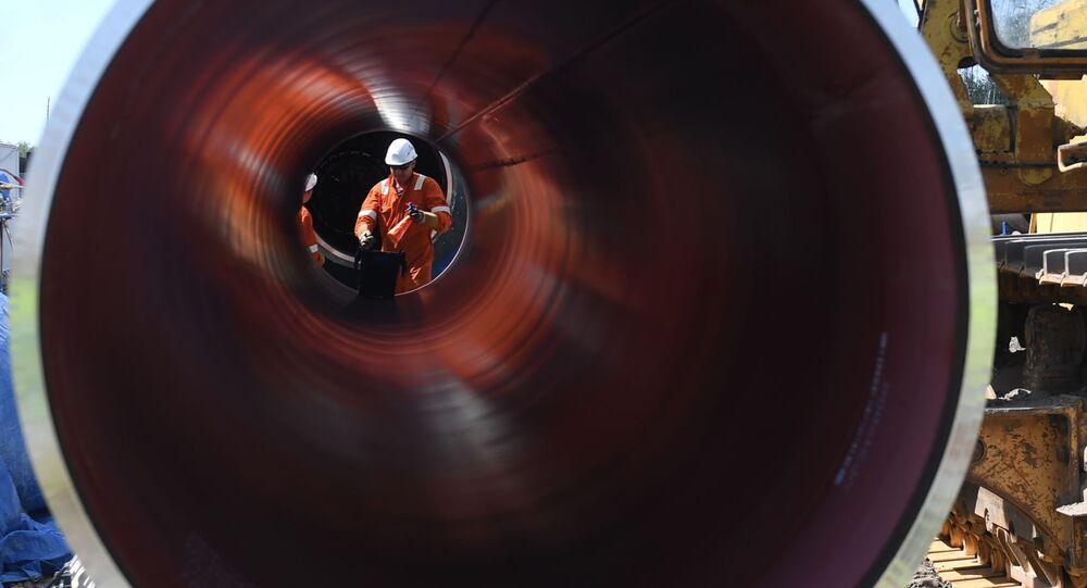Tubería de un gasoducto (imagen referencial)