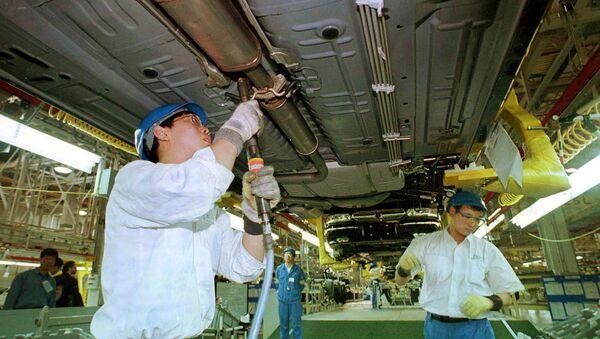 Una planta de ensamblaje de General Motors en China - Sputnik Mundo
