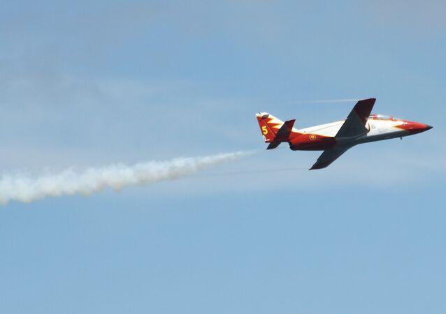 Un avión C-101 español (imagen referencial)