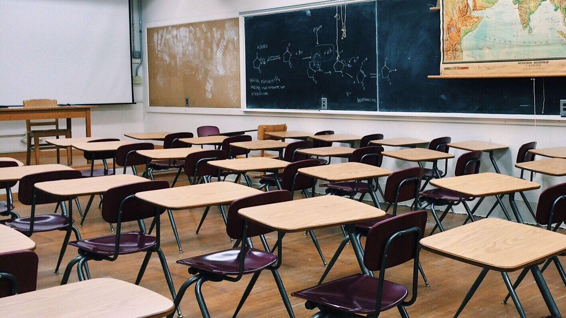 Una clase de escuela (imagen referencial) - Sputnik Mundo, 1920, 04.03.2021