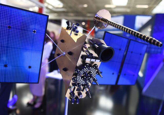 Un modelo del satélite Glonass-K