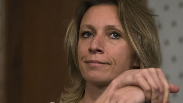 La portavoz del Ministerio de Exteriores de Rusia, María Zajárova - Sputnik Mundo