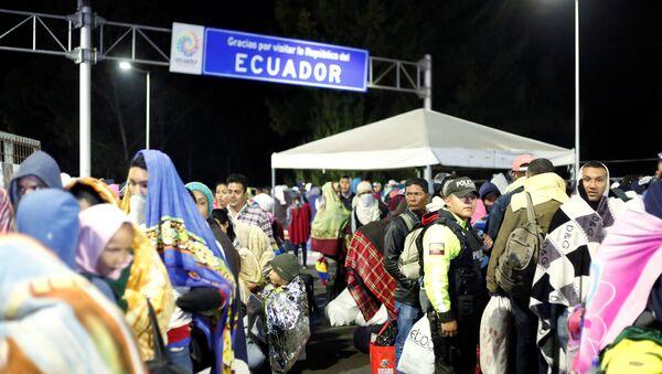 Frontera entre Colombia y Ecuador - Sputnik Mundo