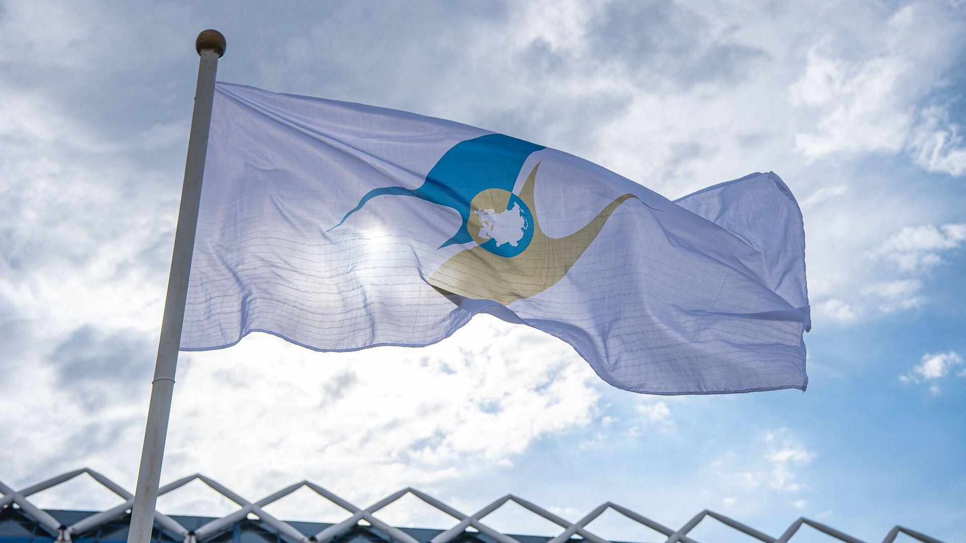 La bandera de la Unión Económica Euroasiática - Sputnik Mundo, 1920, 09.03.2021