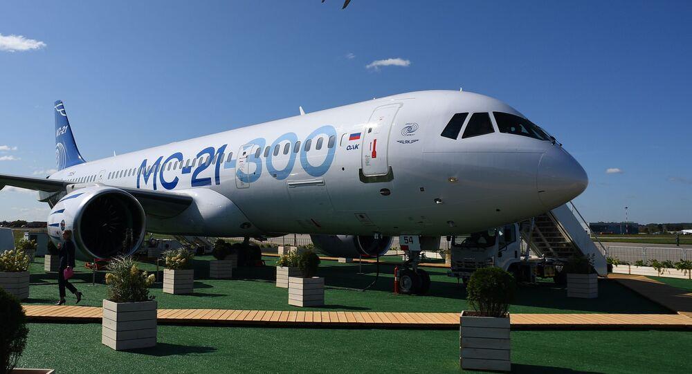 Avión de pasajeros ruso MC-21