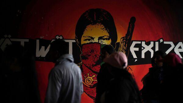 Grafiti de un gerillero, Colombia - Sputnik Mundo