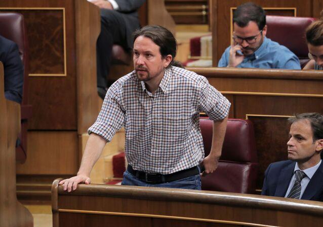 Pablo Iglesias, líder del partido Unidas Podemos