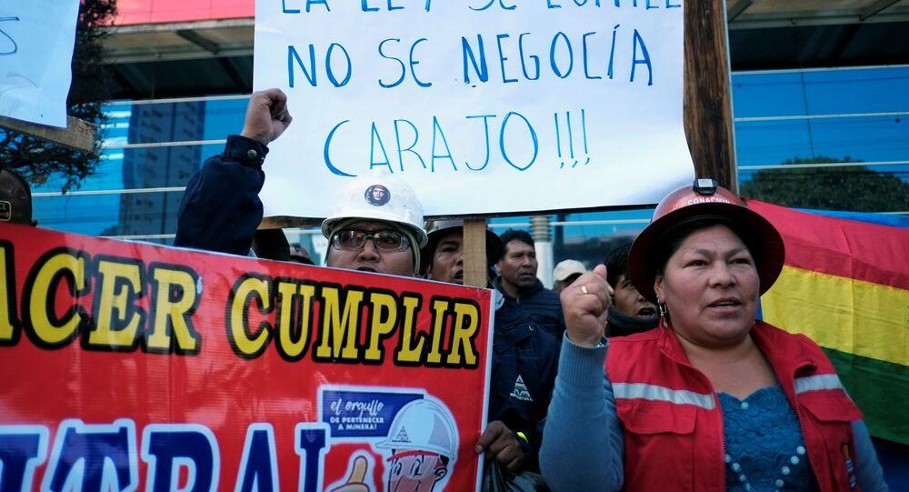 La huelga de los mineros en La Paz