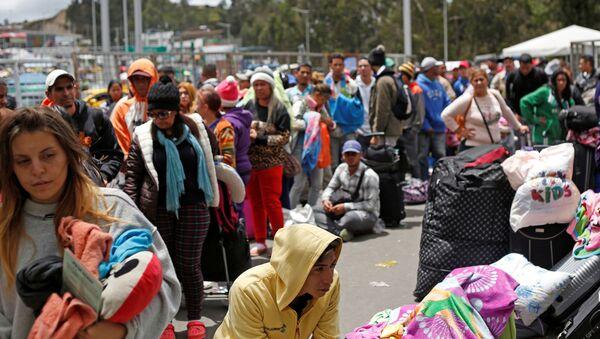 Los migrantes venezolanos en la frontera con Colombia - Sputnik Mundo