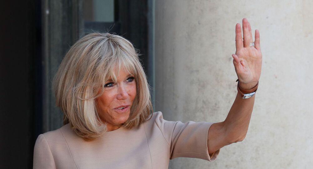 Brigitte Macron, la mujer del presidente de Francia, Emmanuel Macron