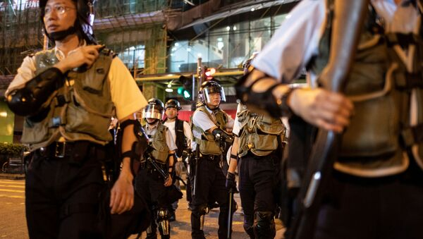 Policía en Hong Kong - Sputnik Mundo