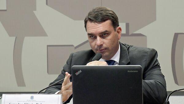 Flávio Bolsonaro, senador brasileño (archivo) - Sputnik Mundo