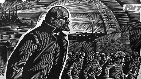 La réplica del cuadro de I. Krislach 'El año 1917' - Sputnik Mundo