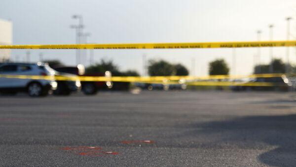 El lugar del tiroteo en Texas, EEUU - Sputnik Mundo