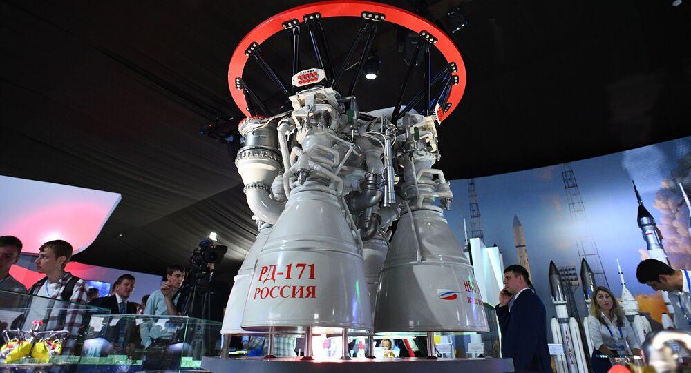 Motor para cohetes ruso RD-171