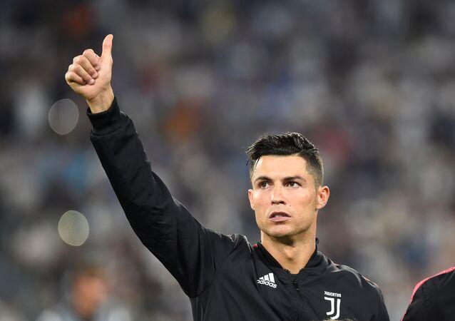 Cristiano Ronaldo en el partido de Juventus contra Napoli