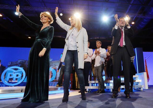 Esperanza Aguirre, Cristina Cifuentes y Mariano Rajoy