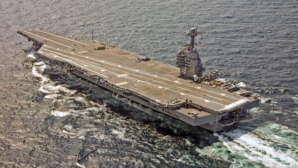 El portaviones USS Gerald R. Ford (CVN-78) de la Armada de Estados Unidos - Sputnik Mundo