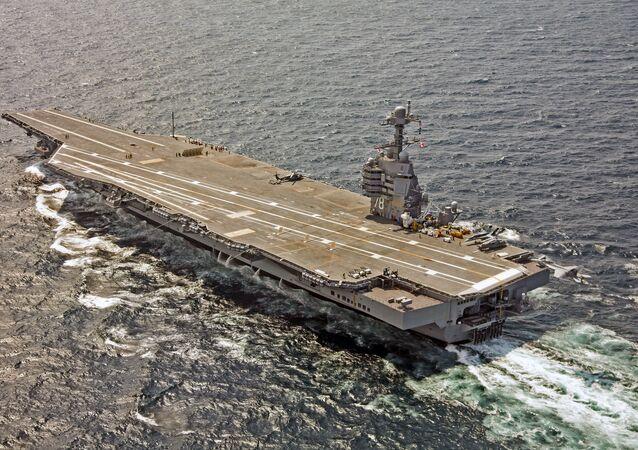 El portaviones USS Gerald R. Ford (CVN-78) de la Armada de Estados Unidos