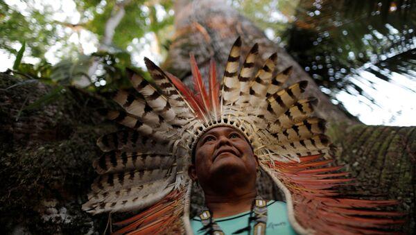 Un indígena de Amazonia  - Sputnik Mundo