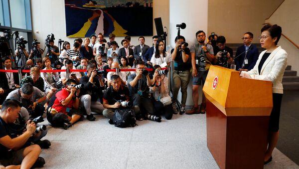 Carrie Lam, jefa del Ejecutivo de Hong Kong - Sputnik Mundo