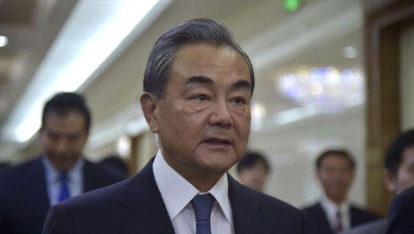 El ministro de Exteriores chino, Wang Yi - Sputnik Mundo