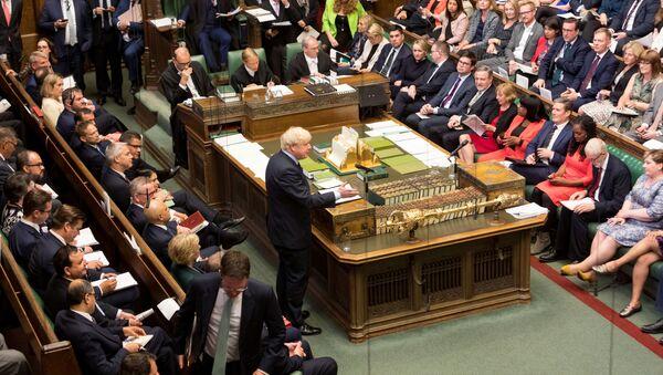 Boris Johnson, jefe del Gobierno del Reino Unido - Sputnik Mundo