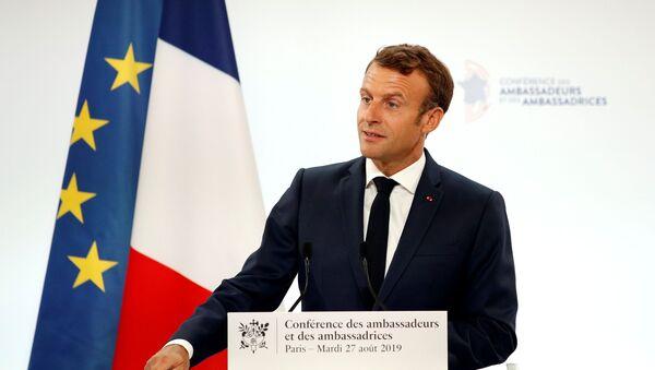 Emmanuel Macron, presidente de Francia - Sputnik Mundo