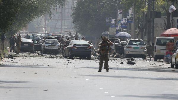 Situación en el lugar del atentado en Kabul, la capital afgana - Sputnik Mundo
