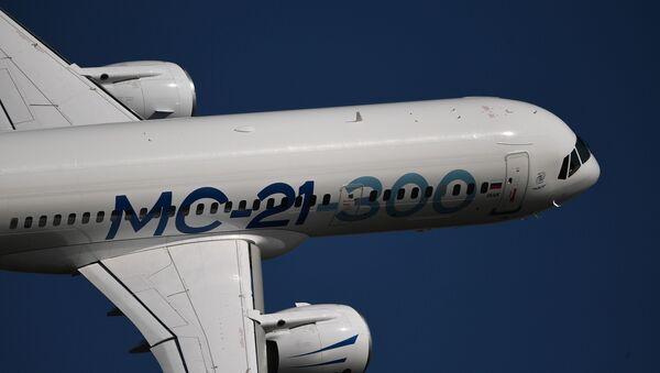 El avión comercial ruso MC-21 - Sputnik Mundo