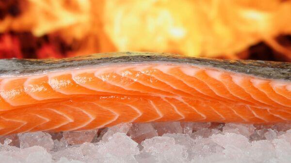 Un salmón utilizado para la gastronomía - Sputnik Mundo