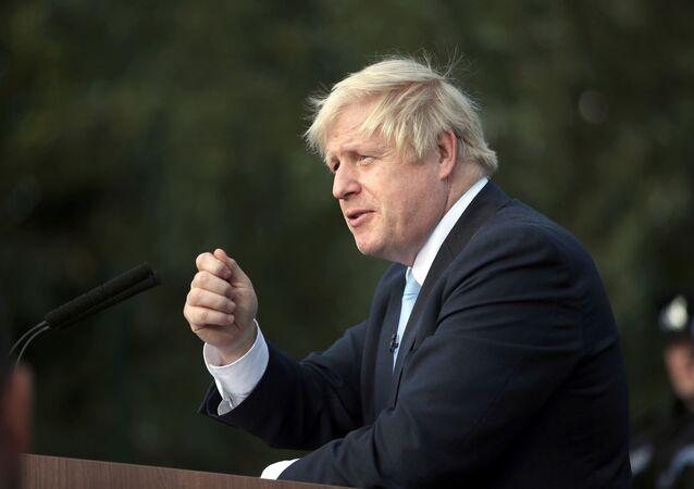 Boris Johnson, jefe del Gobierno británico
