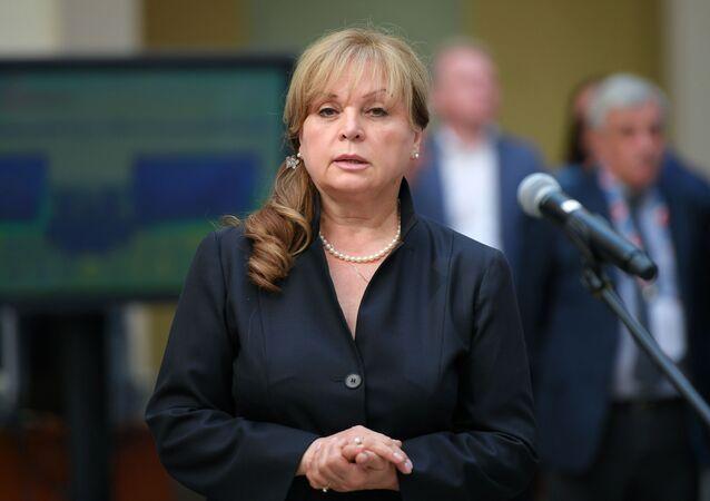 Ela Pamfílova, presidenta de la Comisión Electoral Central de Rusia